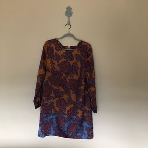 The Limited long sleeve paisley dress